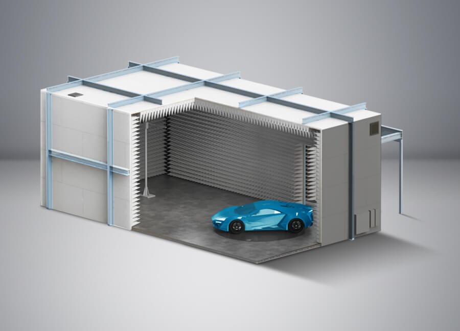 CISPR Automotive Vehicle Test Chambers - Global EMC Ltd